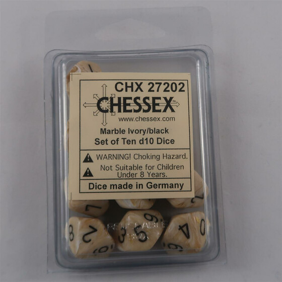 Chessex Marble Ivory 10 x W10 Set