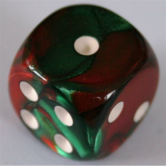 Chessex Gemini Green-Red W6 20mm