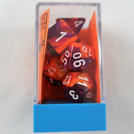 Chessex Gemini orange-purple Set boxed