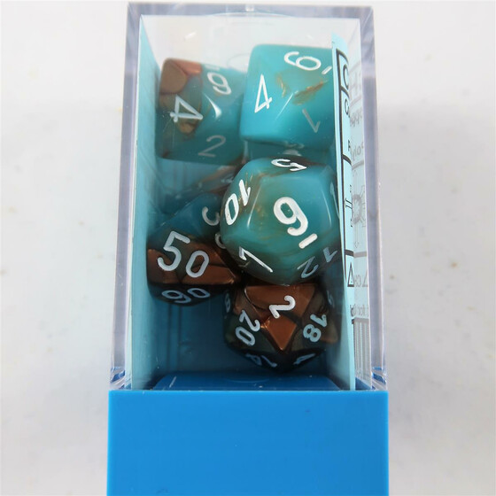 Chessex Gemini copper-turqouise Set boxed