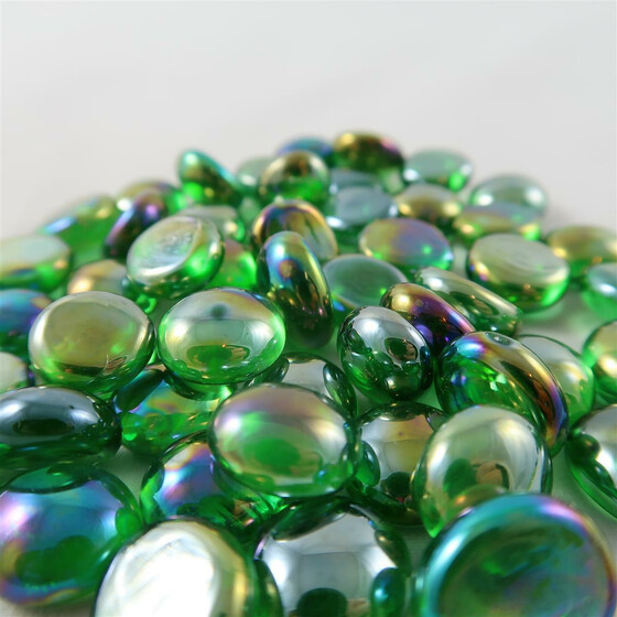 Chessex Glasspielsteine Green Iridized