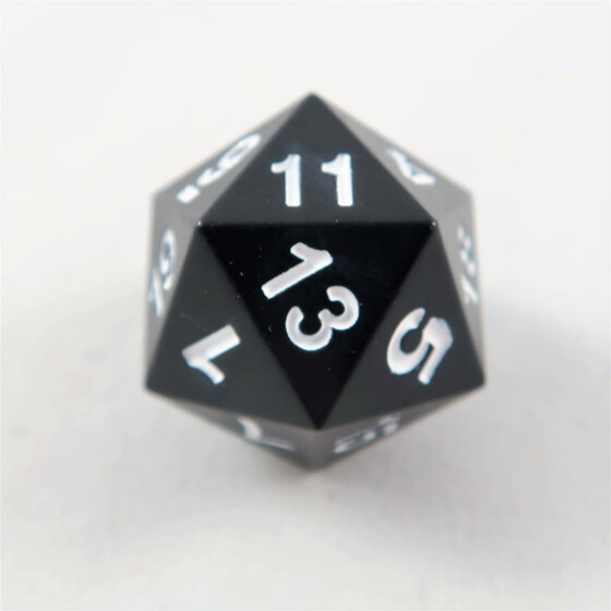 Metal dice D20 black NEW
