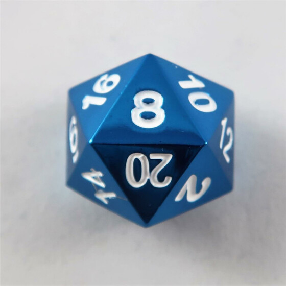 Metal dice D20 red NEW