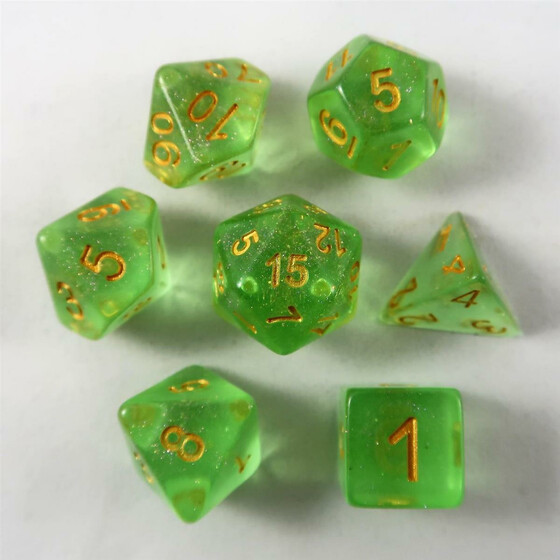 Shimmer Dice green Set