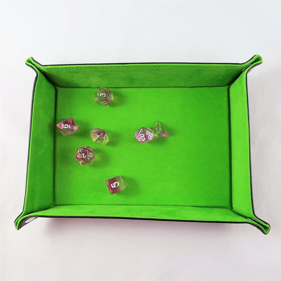 foldable dice board light green