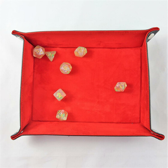foldable dice board red