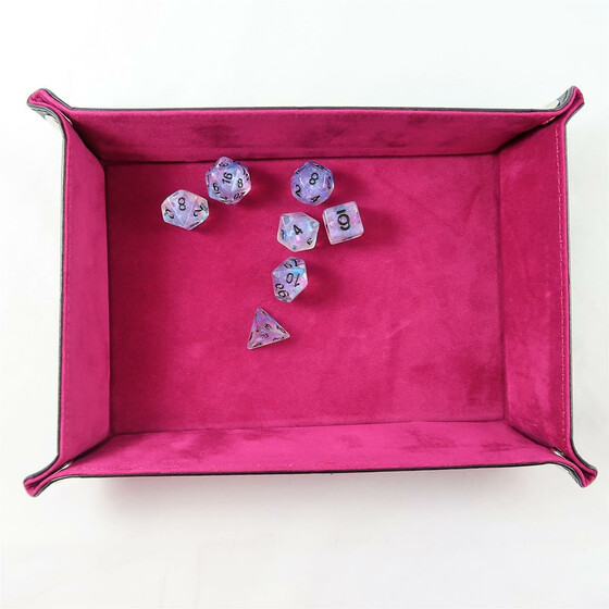foldable dice board purple