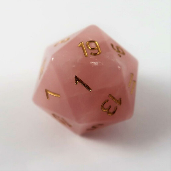 Rose Quarz D20