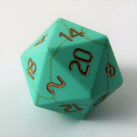 Green Turqouise D20