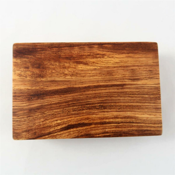 Wooden box Zebra Wood rectangular