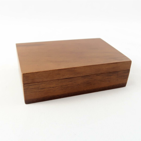 Wooden box black Walnut rectangular