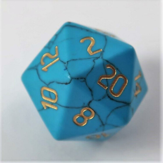 Blue Turqouise D20