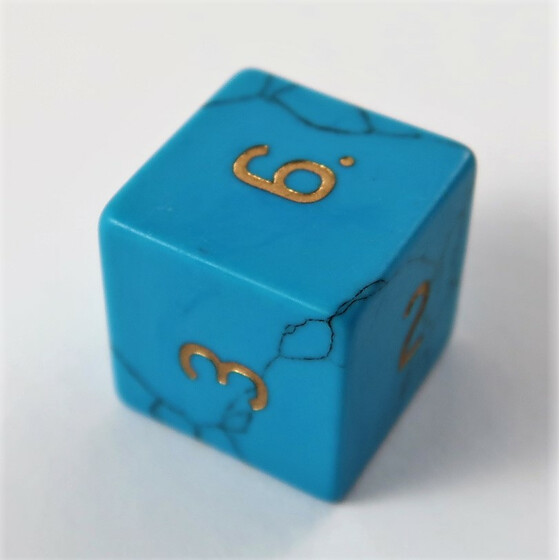 Blue Turquoise D6