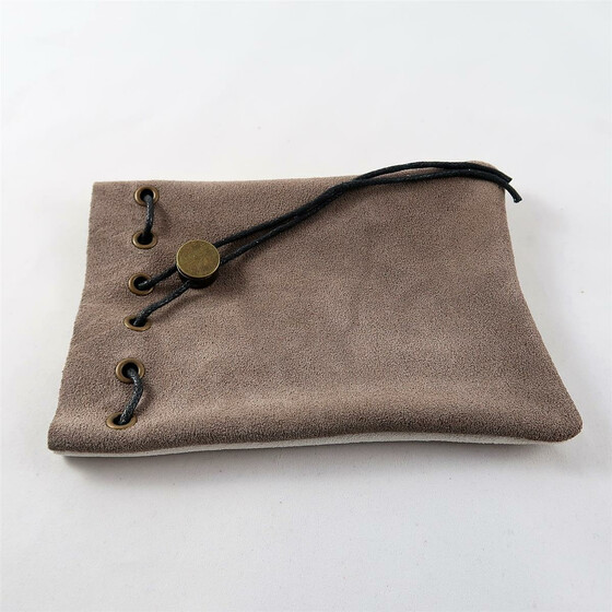 Leather Bag grey/light grey