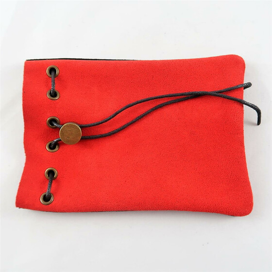Leather Bag red/black