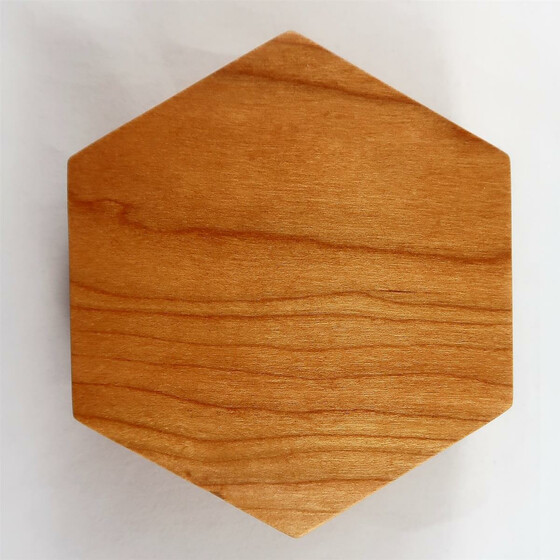 Wooden box Cherry hexagonal