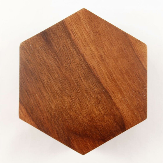 Wooden box Zebra Wood hexagonal