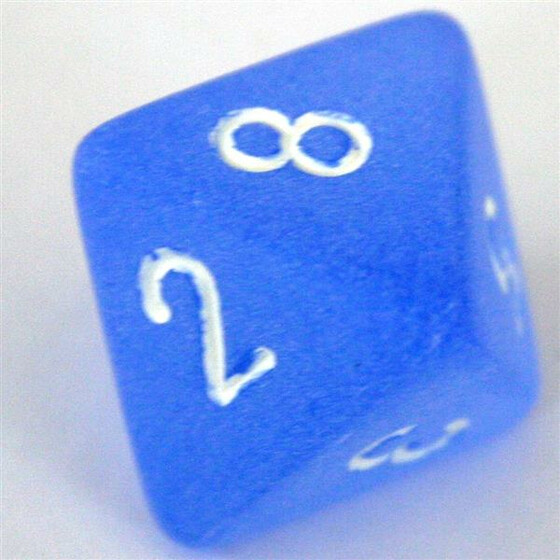 Chessex Frosted Blue W8