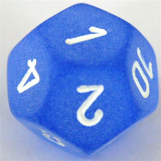 Chessex Frosted Blue D12