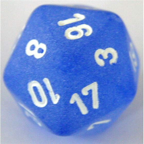 Chessex Frosted Blue W20