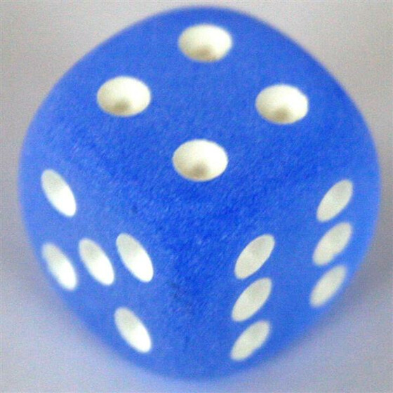 Chessex Frosted Blue W6 16mm