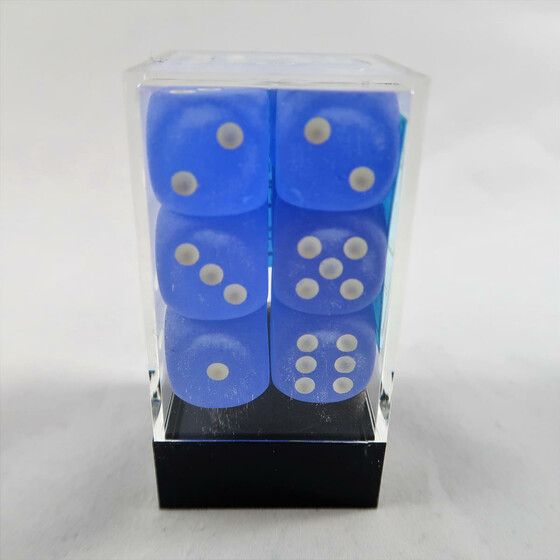 Chessex Frosted Blue D6 16mm Set