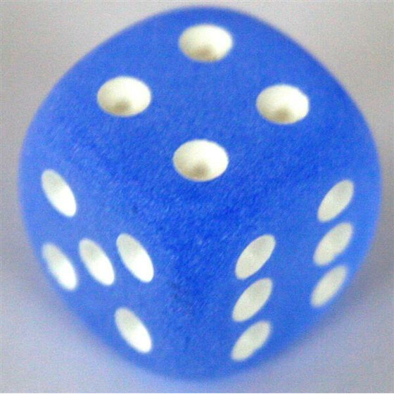 Chessex Frosted Blue D6 12mm Set