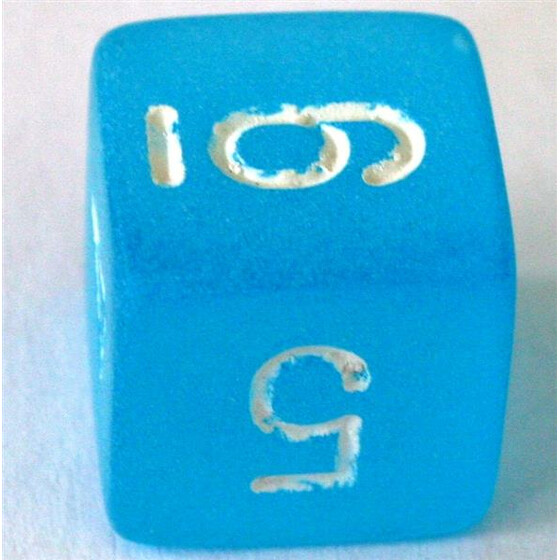 Chessex Frosted Caribbean Blue D6