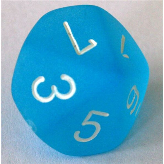 Chessex Frosted Carribean Blue W10