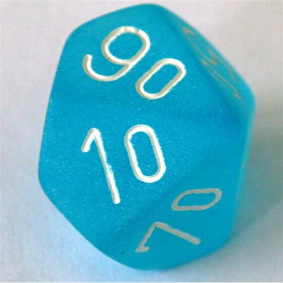 Chessex Frosted Caribbean Blue D10%