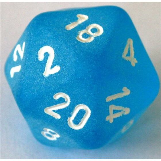 Chessex Frosted Caribbean Blue D20
