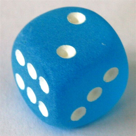 Chessex Frosted Caribbean Blue W6 12mm