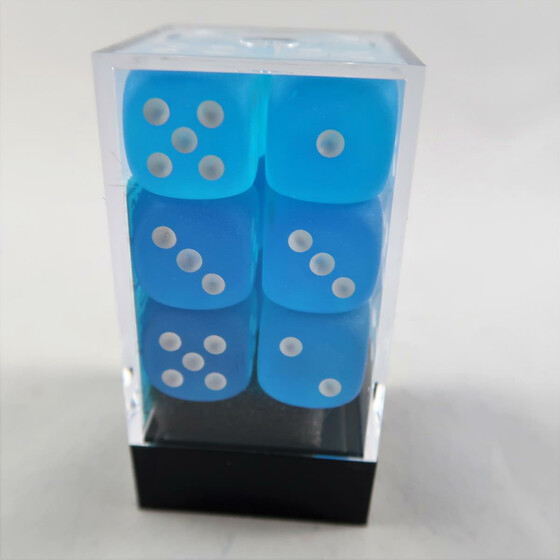 Chessex Frosted Caribbean Blue W6 16mm Set