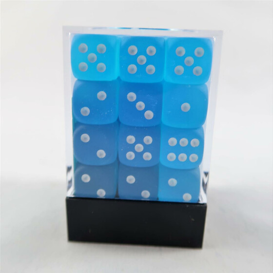 Chessex Frosted Carribean Blue W6 12mm Set