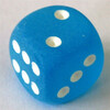 Chessex Frosted Caribbean Blue W6 12mm Set