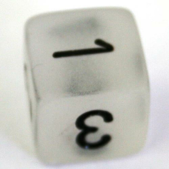 Chessex Frosted Clear D6