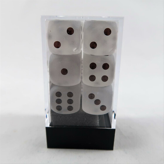 Chessex Frosted Clear D6 16mm Set