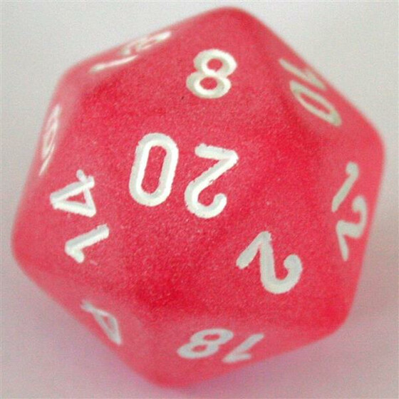 Chessex Frosted Pink D20