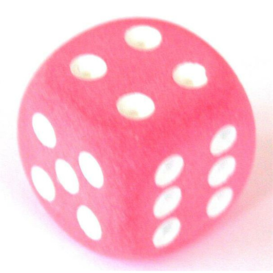 Chessex Frosted Pink D6 16mm