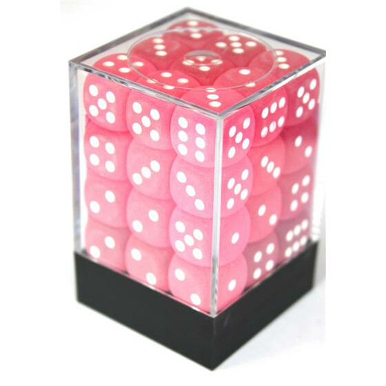Chessex Frosted Pink D6 12mm Set
