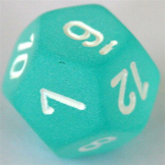 Chessex Frosted Teal W12