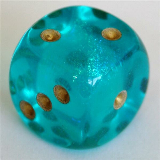 Chessex Borealis Teal W6 12mm