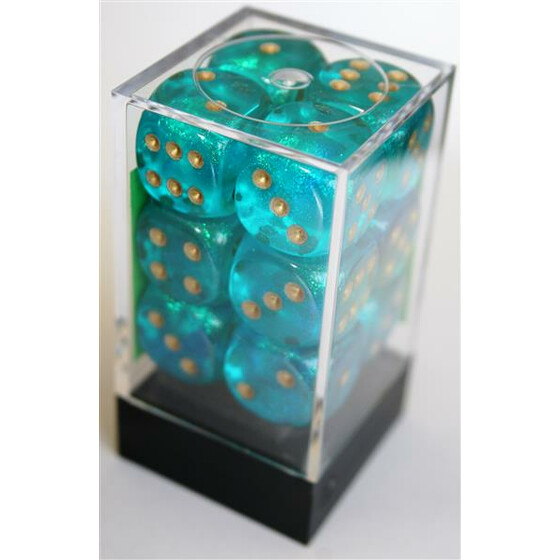 Chessex Borealis Teal D6 16mm Set