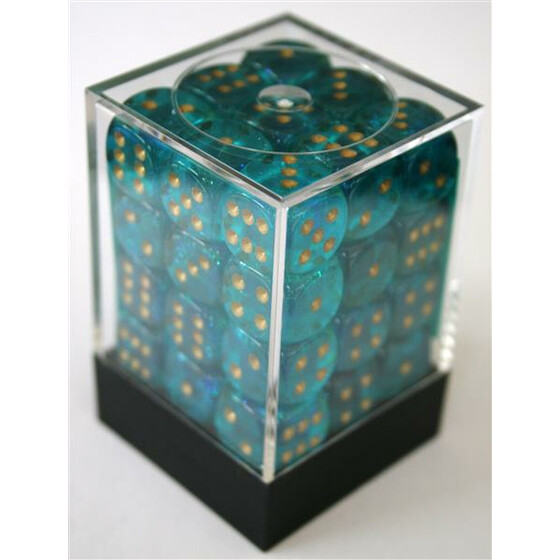 Chessex Borealis Teal D6 12mm Set