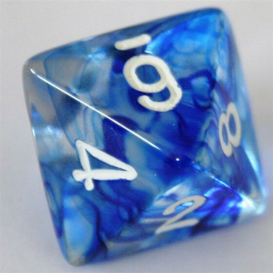 Chessex Nebula Dark Blue W8