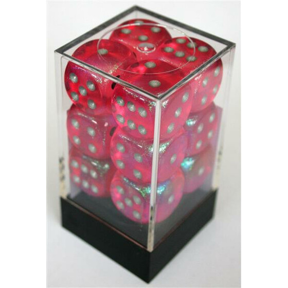 Chessex Borealis Pink W6 16mm Set