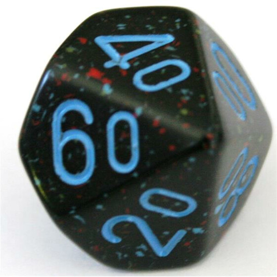 Chessex Speckled Blue Stars D10%