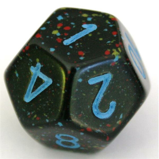 Chessex Speckled Blue Star W12