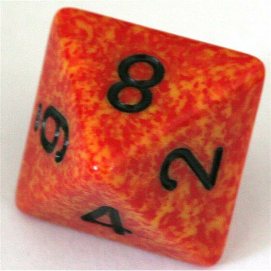 Chessex Speckled Fire W8