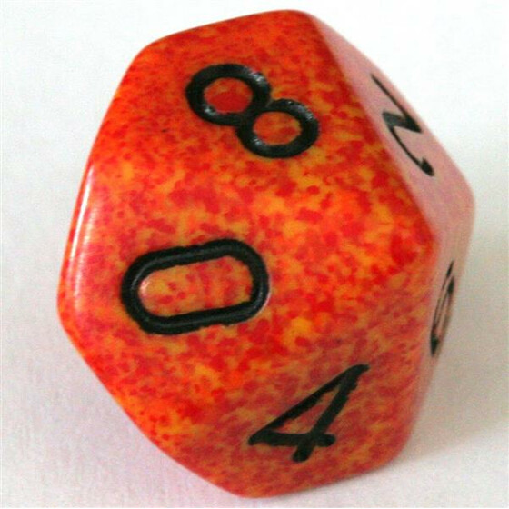 Chessex Speckled Fire W10
